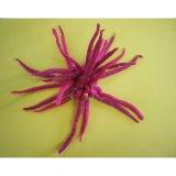 Chouchou laine bouillie rose foncé