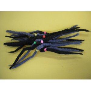 Chouchou laine bouillie noir et gris