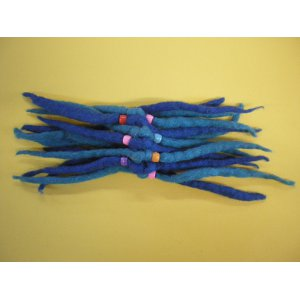 Chouchou laine bouillie blue
