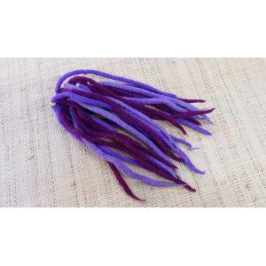 Chouchou big laine bouillie violet