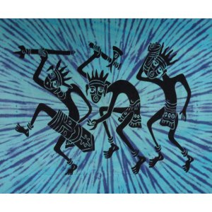 Tenture maxi papou dance bleu