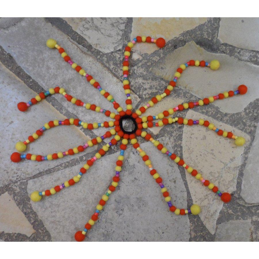 Chouchou big Jumla jaune orange