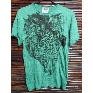Tee shirt vert panthère
