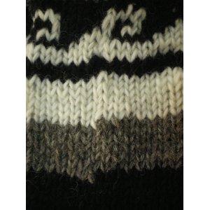 Chaussettes en laine rayées