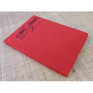 Carnet papier naturel rouge