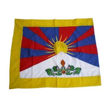 Drapeau du Tibet brodé S
