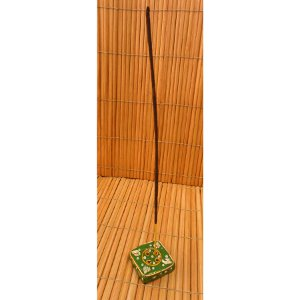 Petit porte encens carré vert