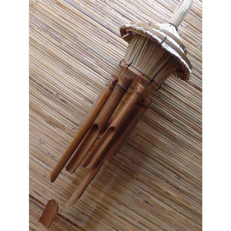 Nichoir carillon paillote 1 entrée