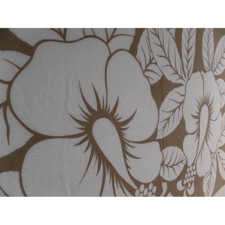 Petite tenture blanche/beige 2 hibiscus