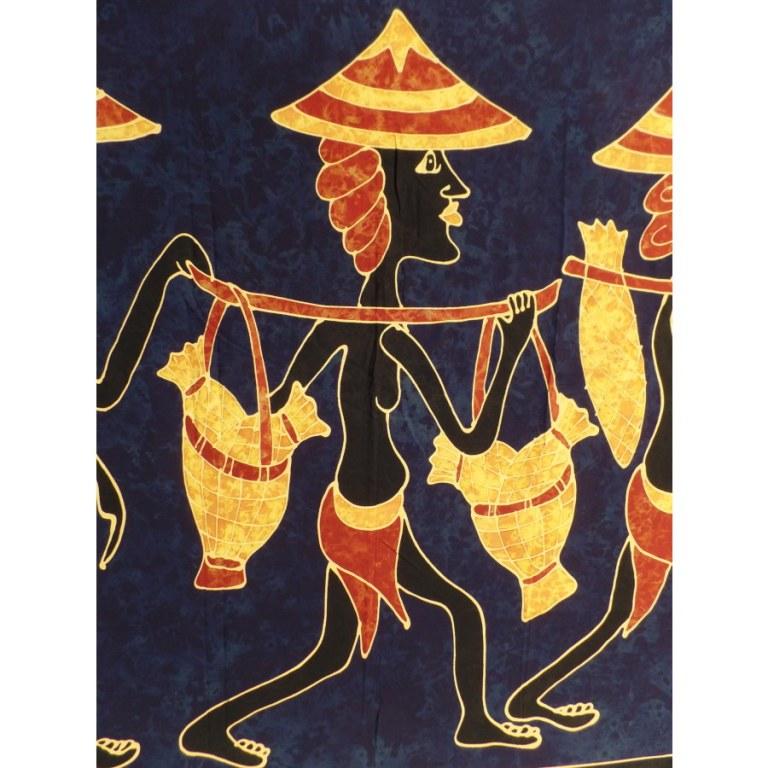 Paréo batik en course