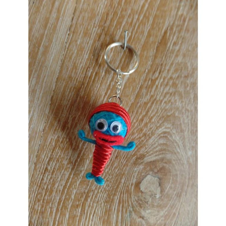 Porte clé siréne bleue