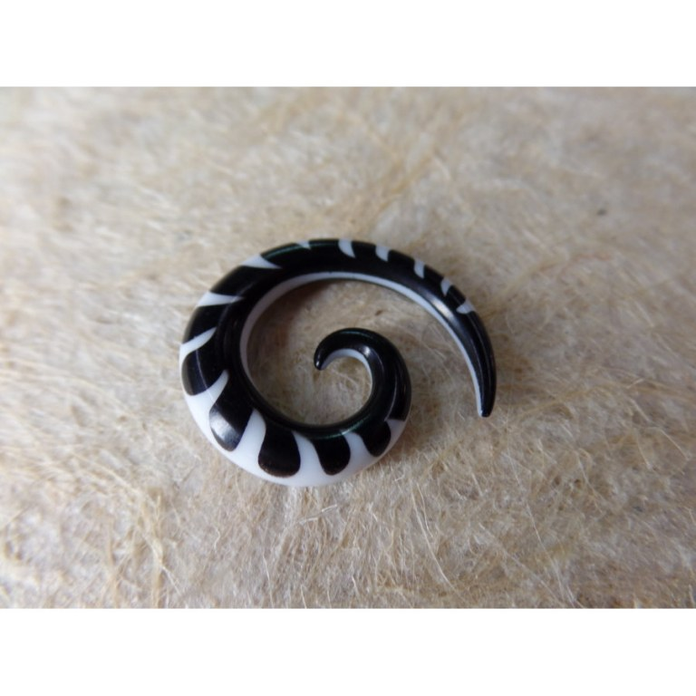 Elargisseur d'oreille bicolore spirale