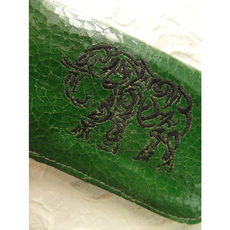 Blague à tabac verte éléphant