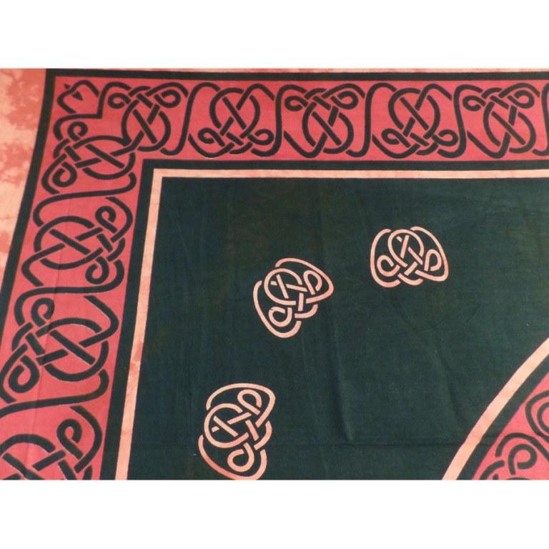 Tenture maxi symbole celte noir/orange