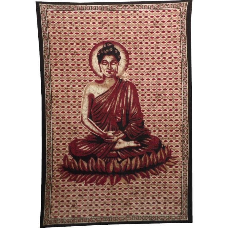 Tenture Buddha zen bordeaux