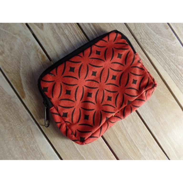 Porte monnaie rouge symé