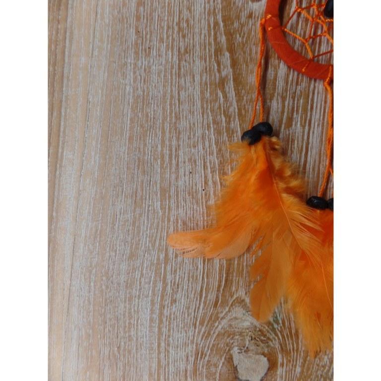 dreamcatcher en cuir 6 cm orange. Black Bedroom Furniture Sets. Home Design Ideas