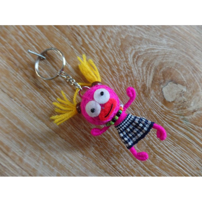 Porte clé Miss couettes