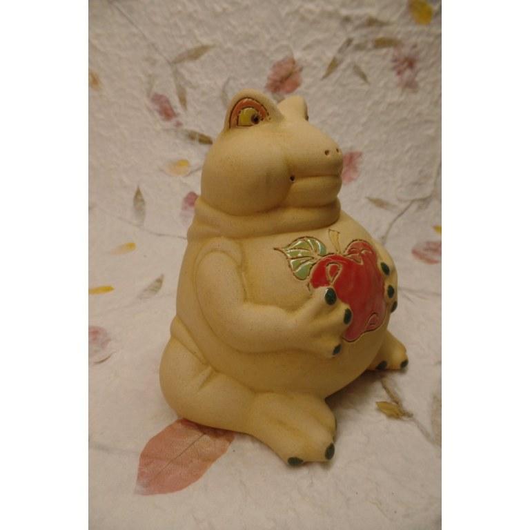 Tirelire grenouille à la pomme