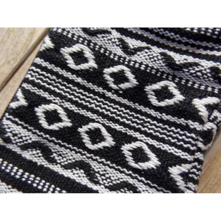 Porte monnaie gheri noir/blanc losanges