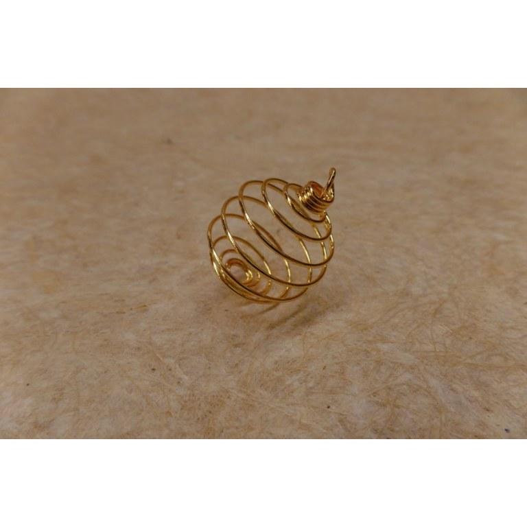 Spirale à pierre dorée