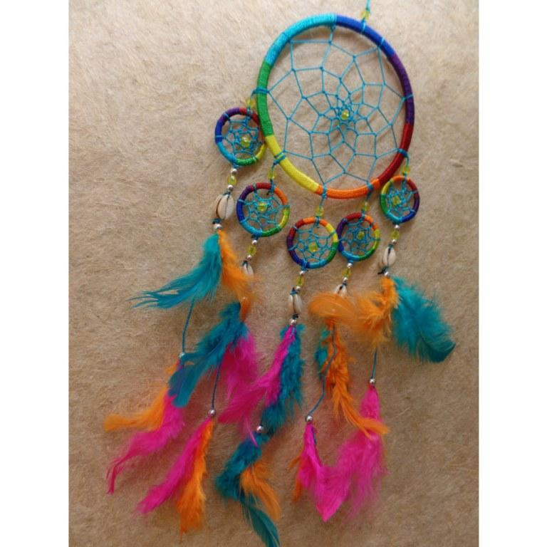 Dreamcatcher fil rainbow 5 mini cercles