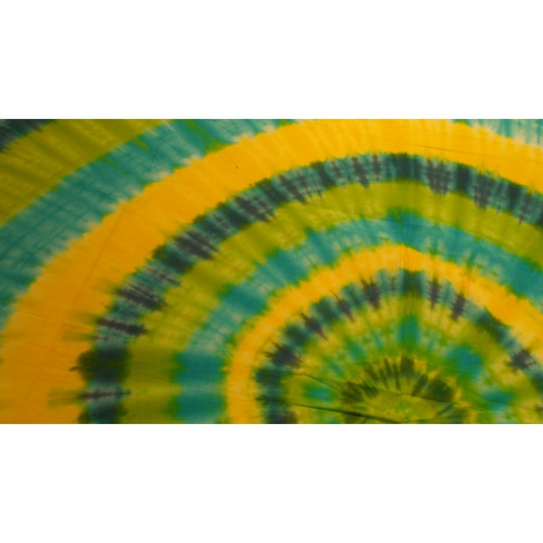 Grande tenture hypnotika vert/jaune/bleu