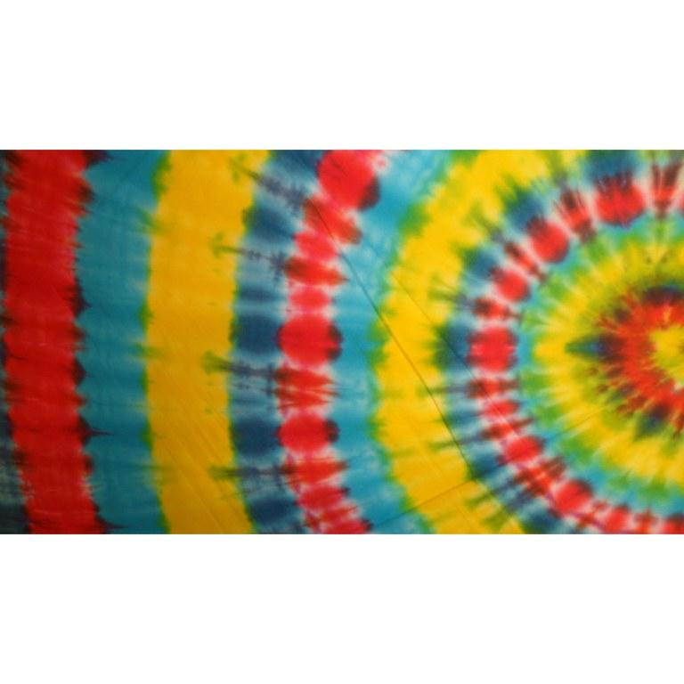 Grande tenture hypnotika rouge/bleu/jaune/vert