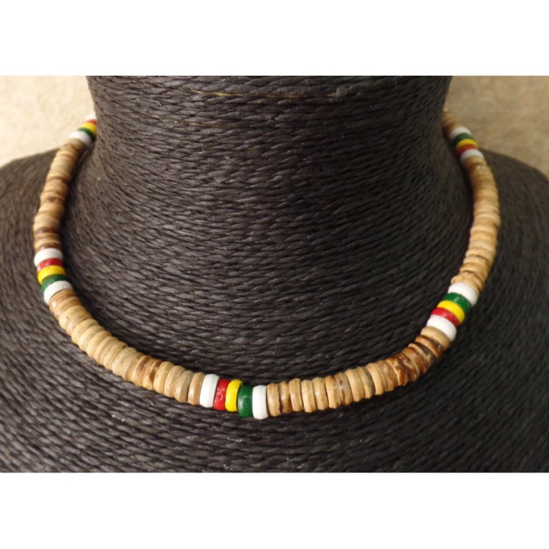 50% off factory authentic best prices Collier surfeur rasta beige