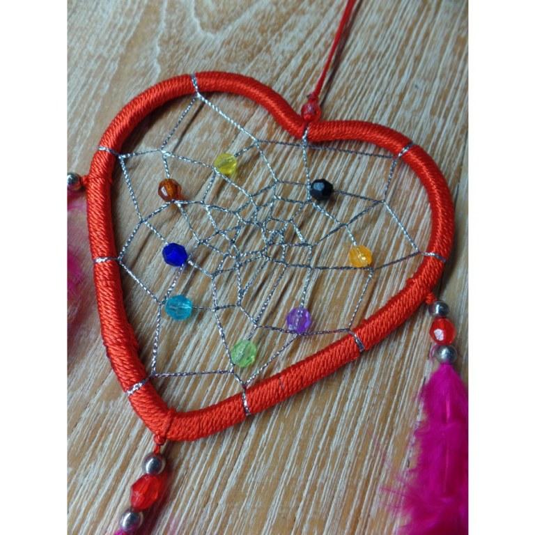 Dreamcatcher rouge heart