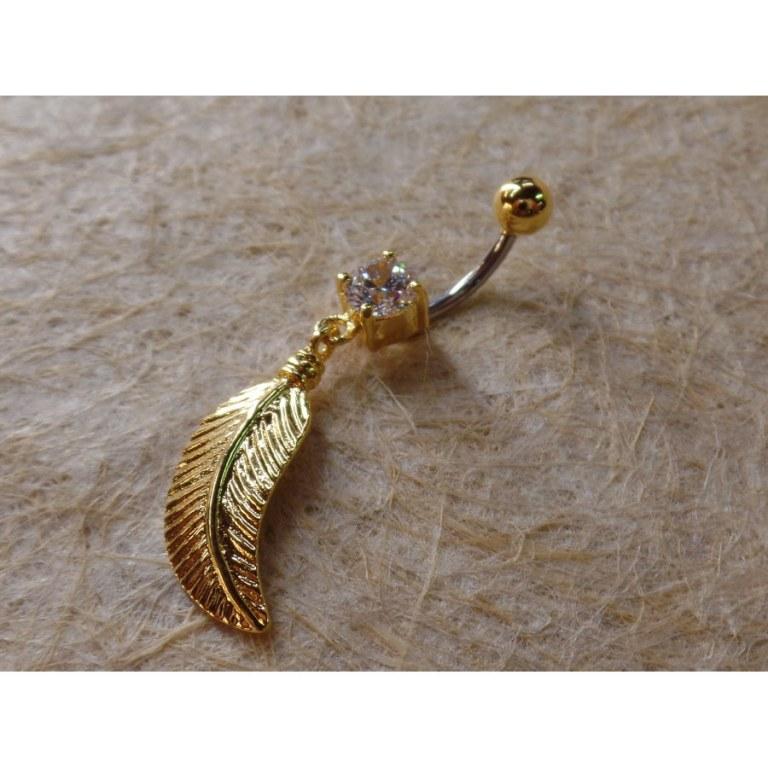 Piercing plume dorée