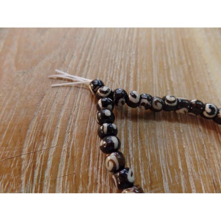 Bracelet tibétain 11 perles marron