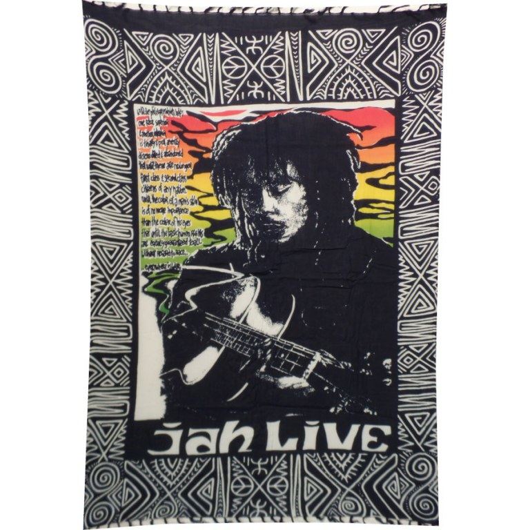 Mini tenture Bob Marley jah live