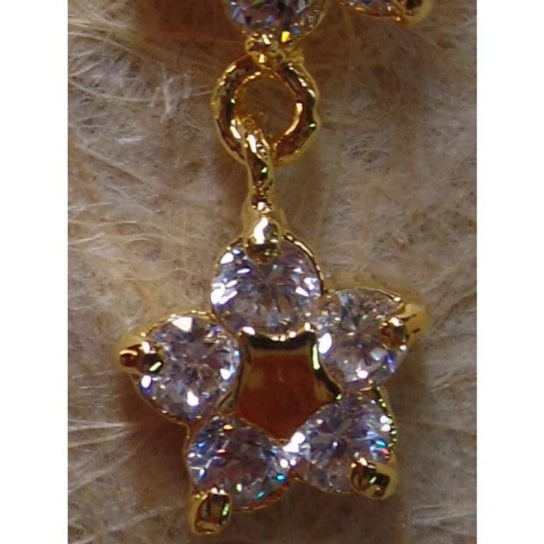 Piercing double fleurs étoile dorée