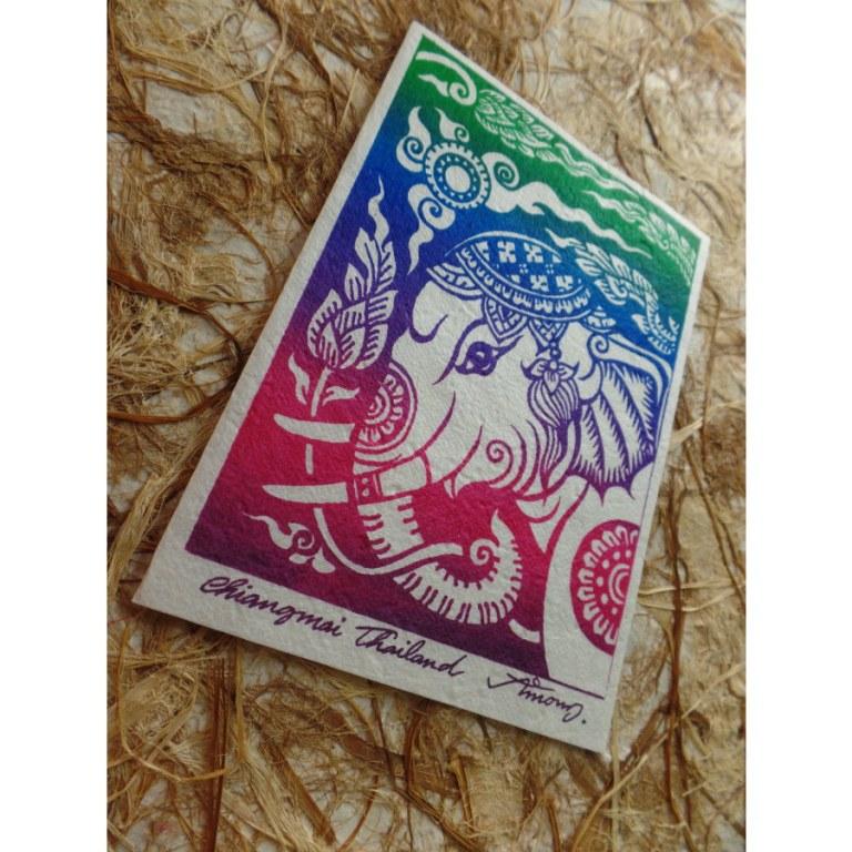 Carte tête d'éléphant