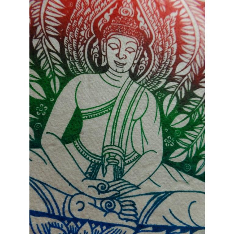Carte la méditation de Bouddha 3