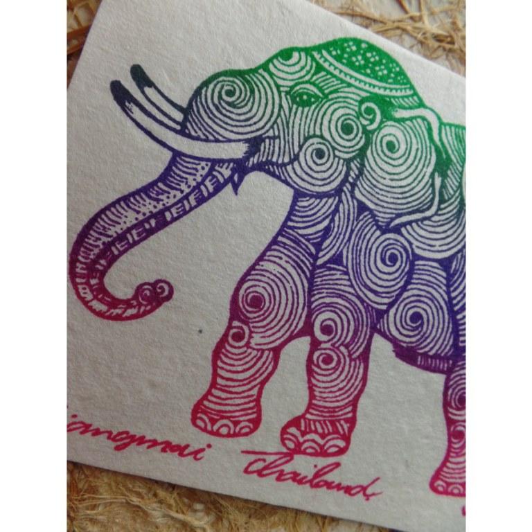 Carte éléphant spires 3 couleurs