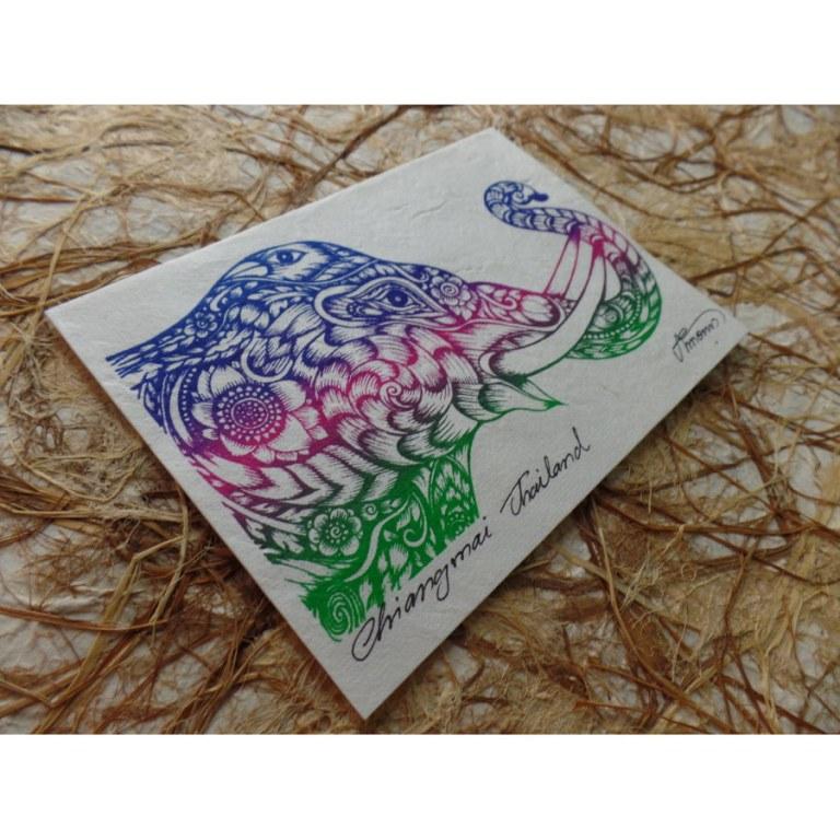 Carte tête d'éléphant stylisée