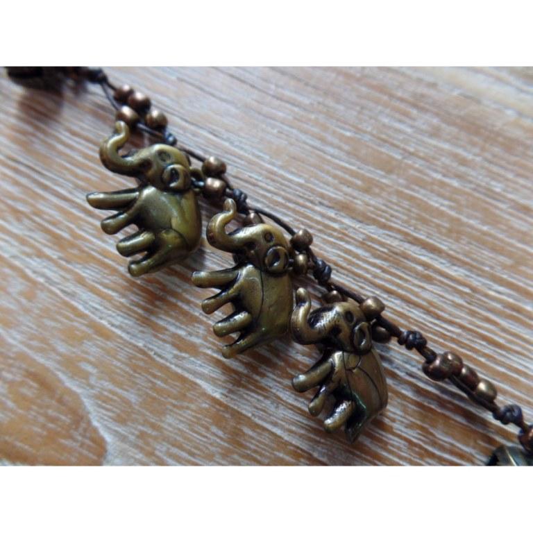 Tour de poignet lilin éléphants