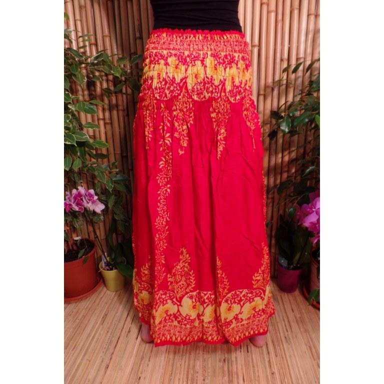 Jupe/robe jaune et rouge