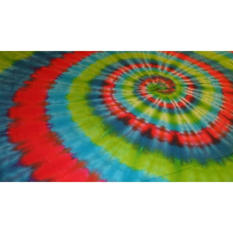 Tenture hypnotika bleu/vert/rouge