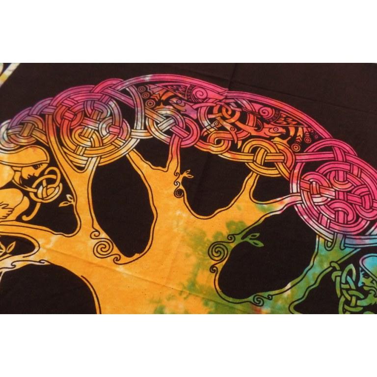 Tenture mini arbre de vie celte color
