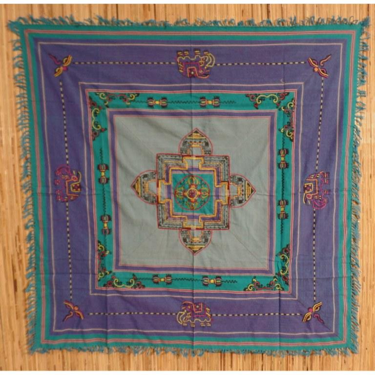 Tenture Chitwan Mandala double dorjés