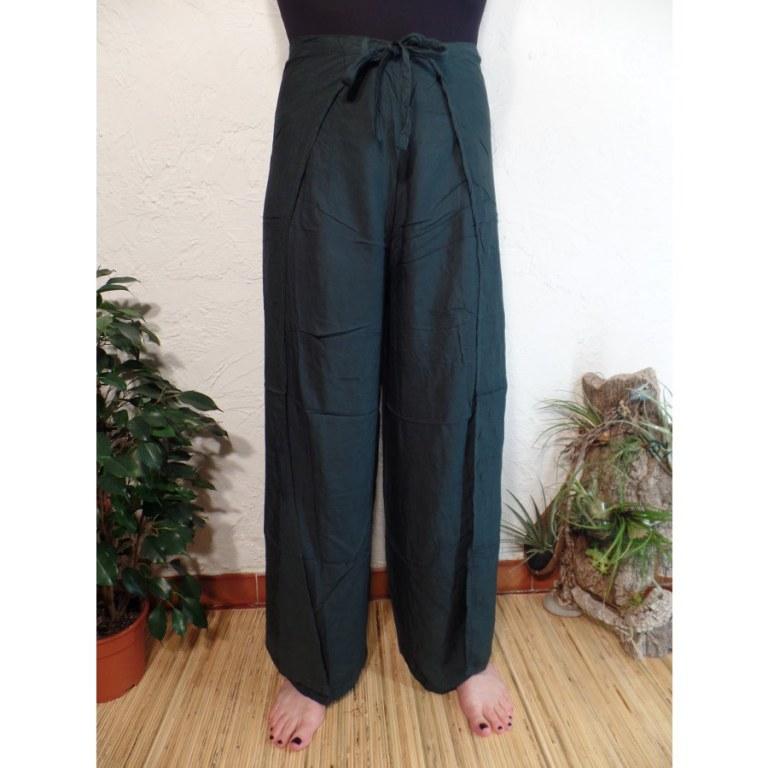 Pantalon paréo vert de gris