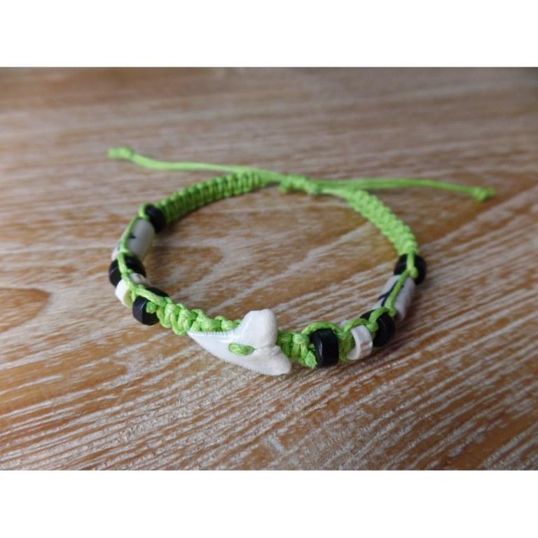 Bracelet dent de requin pistache