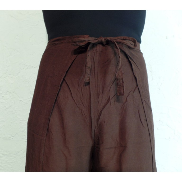 Pantalon paréo marron