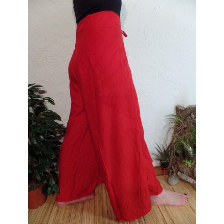 Pantalon paréo rouge