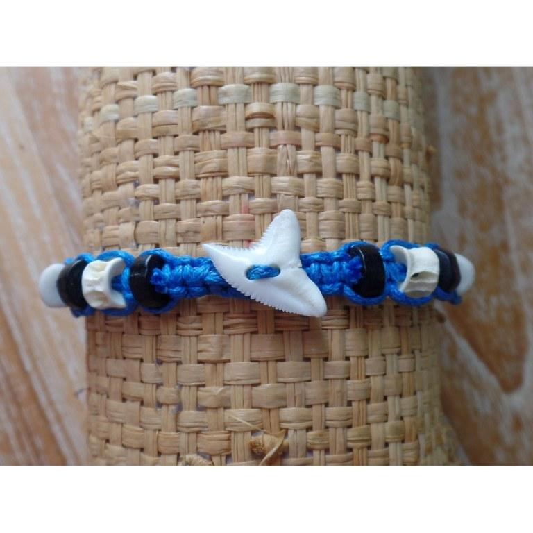 Bracelet dent de requin myrtille