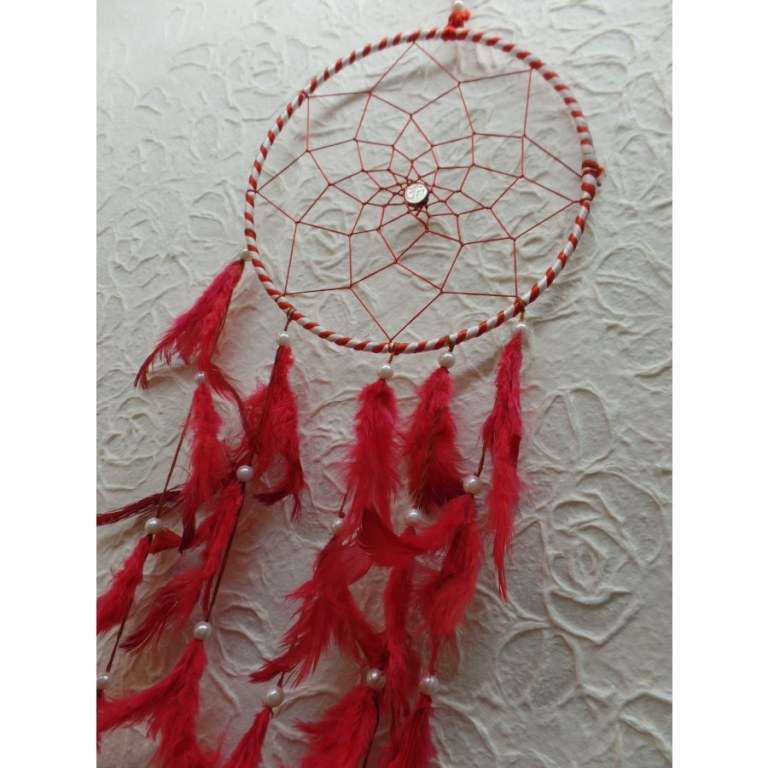 Attrape rêve rouge mandan