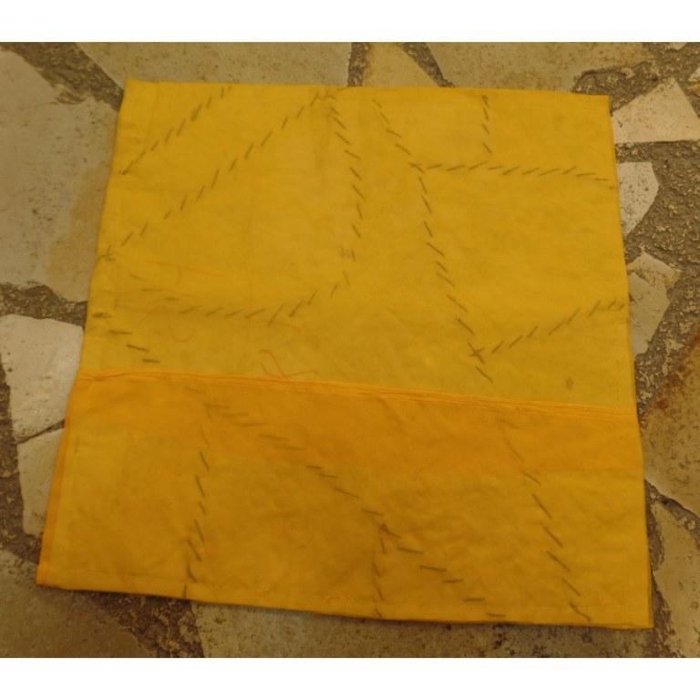 Housse carrée Jammu jaune